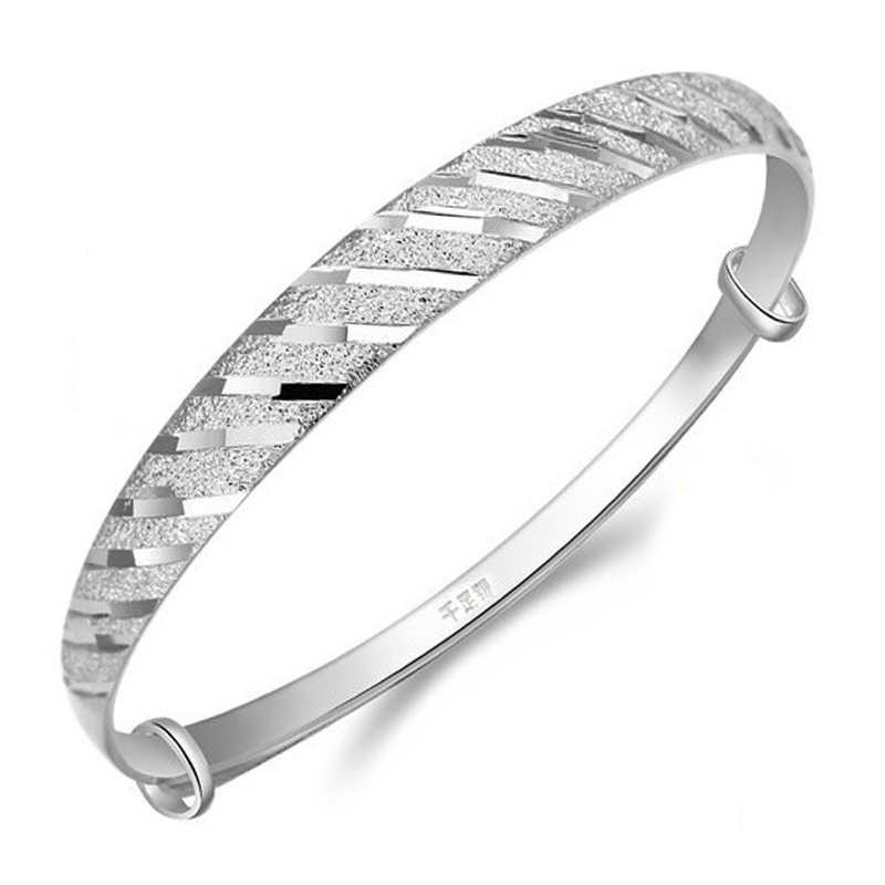 Silver Plated Jewelry Meteor Shower Retro Bangle Bracelet Female Korean Birthday Gift Bracelet