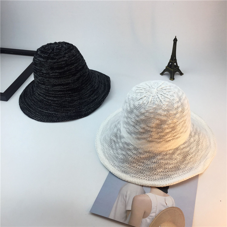 Summer New Style Hat Lady Cotton Collapsible Sun Protection Hat Outdoor Travel Casual Beach Bucket Hats ACF17 (8)