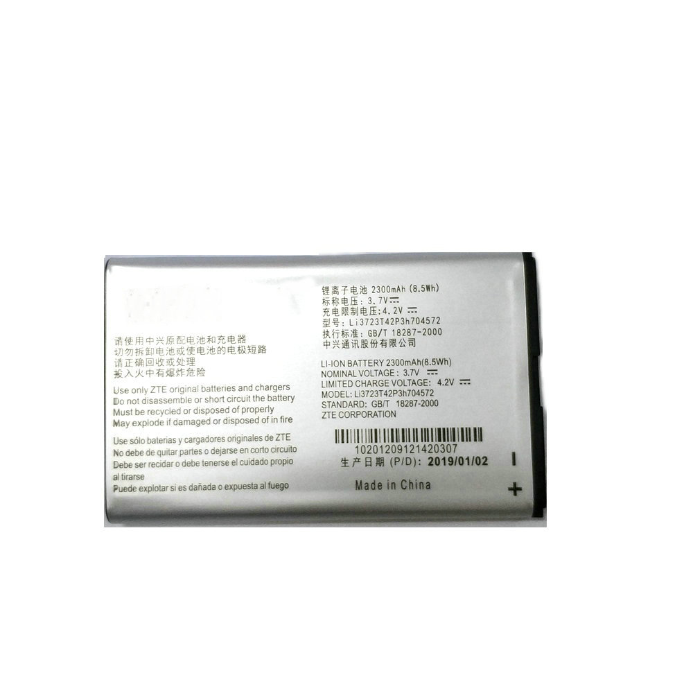 2019 New Li3723T42P3h704572 2300mAh Rechargeable <font><b>Batterie</b></font> For <font><b>ZTE</b></font> MF91 <font><b>MF90</b></font> 4G WIFI Router Modem image