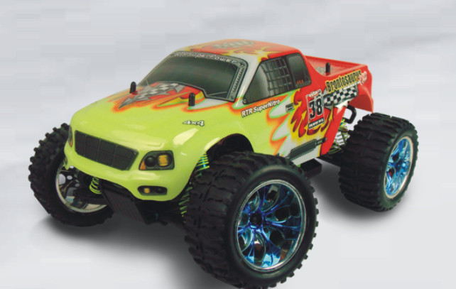 RC cars HSP 94111 Pro 4WD 1/10th Scale Electric Powered Off Road Monster Truck W/brushless motor P2 02023 clutch bell double gears 19t 24t for rc hsp 1 10th 4wd on road off road car truck silver