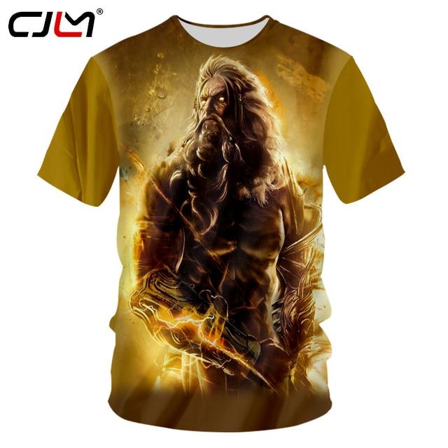 CJLM God Of War Tshirts Casual T-shirt Unisex O Neck Tees Shirts 7XL