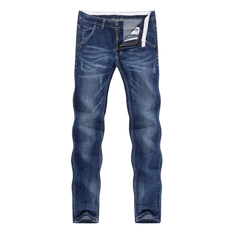 KSTUN Jeans Men Summer 2020 Thin Blue Slim Straight Denim Pants Casual Fashion Men's Trousers Full Length Cowboys Man Homme Jean 11