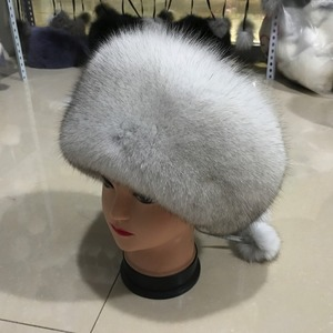 Image 2 - Fashion New Style Luxury Winter Russian Natural Real Fox Fur Hat 2020 Women Warm Good Quality 100% Genuine Real Fox Fur Cap