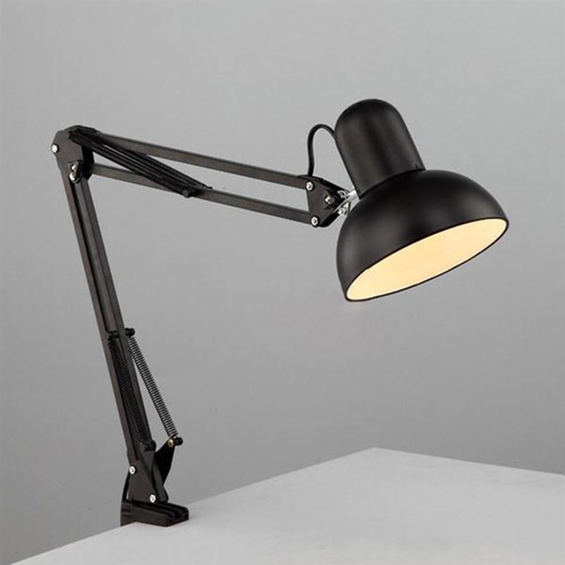 Modern LED Table Lamps Clip Folding Desk Lamp Long Swing ...