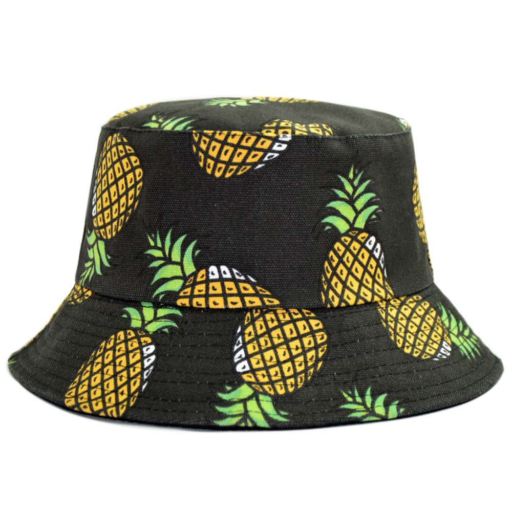82984311a97 Dropwow Reversible Bucket Hat Men Pineapple Banana Spring Fall ...