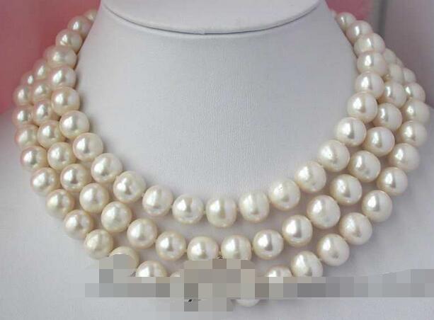 FREE SHIPPING>@@> 3307 round white freshwater pearl necklaceFREE SHIPPING>@@> 3307 round white freshwater pearl necklace