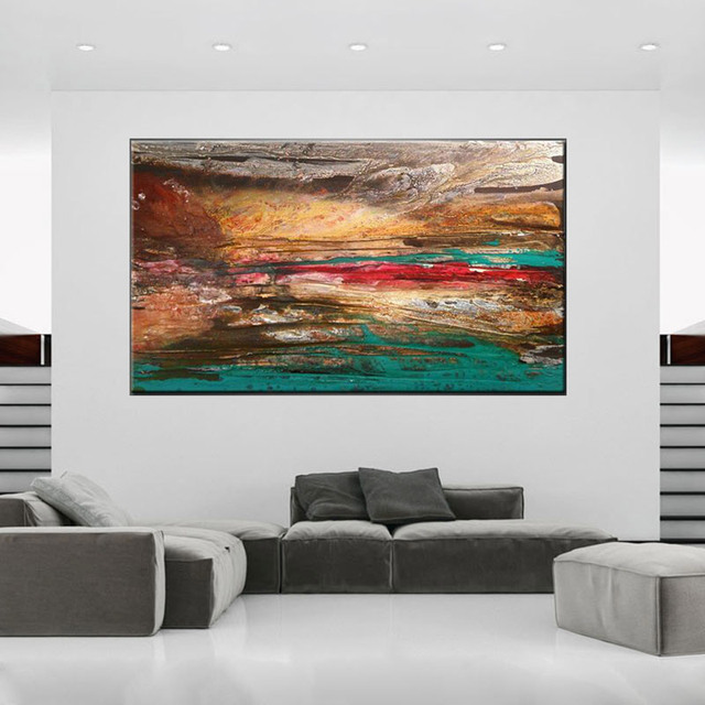 Hand Painted High Quality Abstract Wall Artwork Unique Oil Painting For Living Room And Kitchen abstract