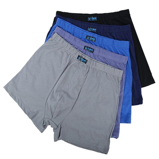 5PCS Soft Men Boxer Underwear Boxer Shorts Seamless Underpants Fat Panties Big Size L-5XL 6XL 7XL 8XL Trunks