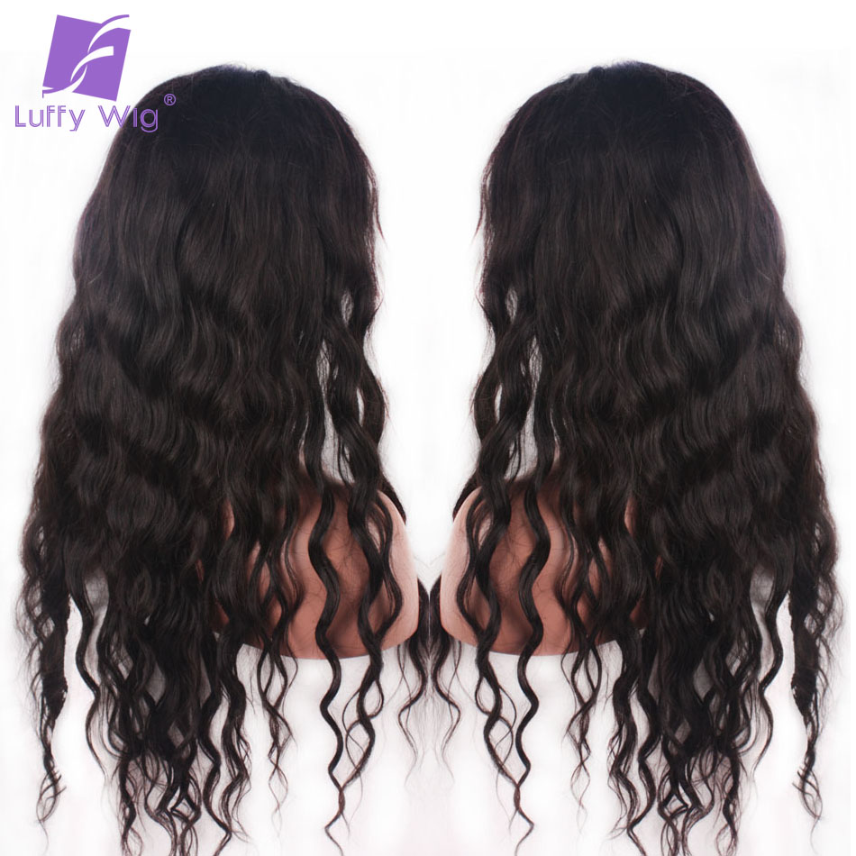 Natural Wave U Part Wig Human Hair Brazilian Non remy Middle Part Wigs Luffy 130% Density