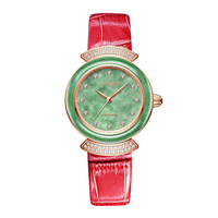Женская мода роскошные классические кварцевые женские часы кожа сапфир зеркало водостойкие 30 м девушка тенденция часы