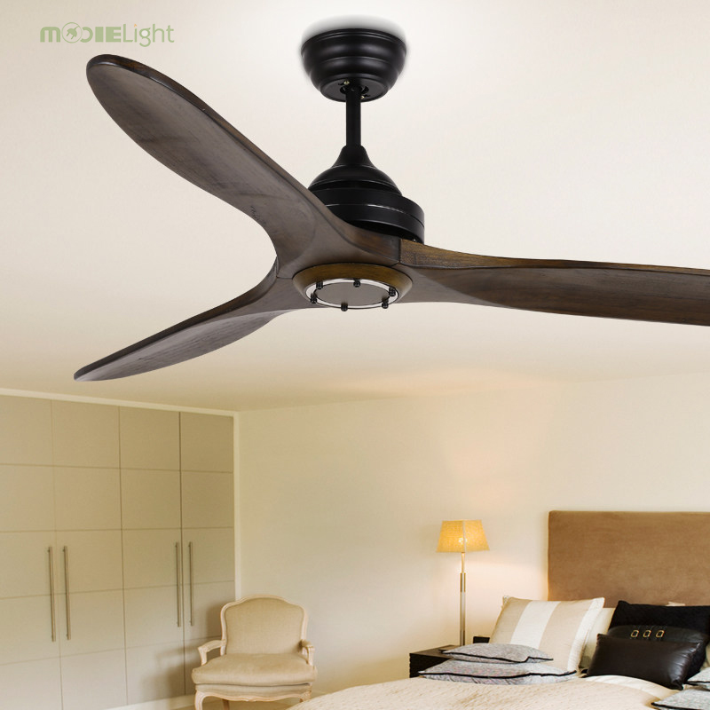 42 Inch Vintage Wooden Ceiling Fans Without Light Bedroom Home Fan 220v Ceiling Fan Wood Remote