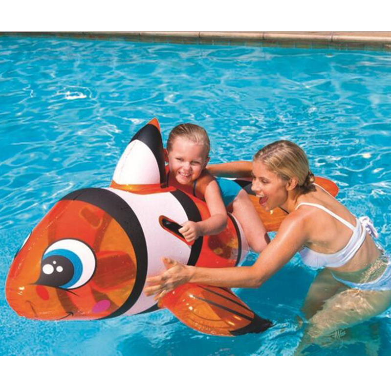 157*94cm Kids Inflatable The fish Pool Floats Buoy Swimming Air Mattress Floating Island Toy Water Boat Pontoon Summer Fun