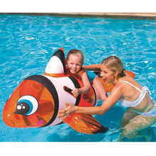 157*94cm Kids Inflatable The fish Pool Floats Buoy Swimming Air Mattress Floating Island Toy Water Boat Pontoon Summer Fun(China)