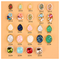 10Pcs/lot Japanese magazine style Nail surface gravel jewelry bride nail jewelry droplets for nail art decorations 8*10mm