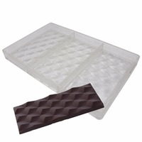 3D Cubes Polycarbonate Chocolate Bars Mold