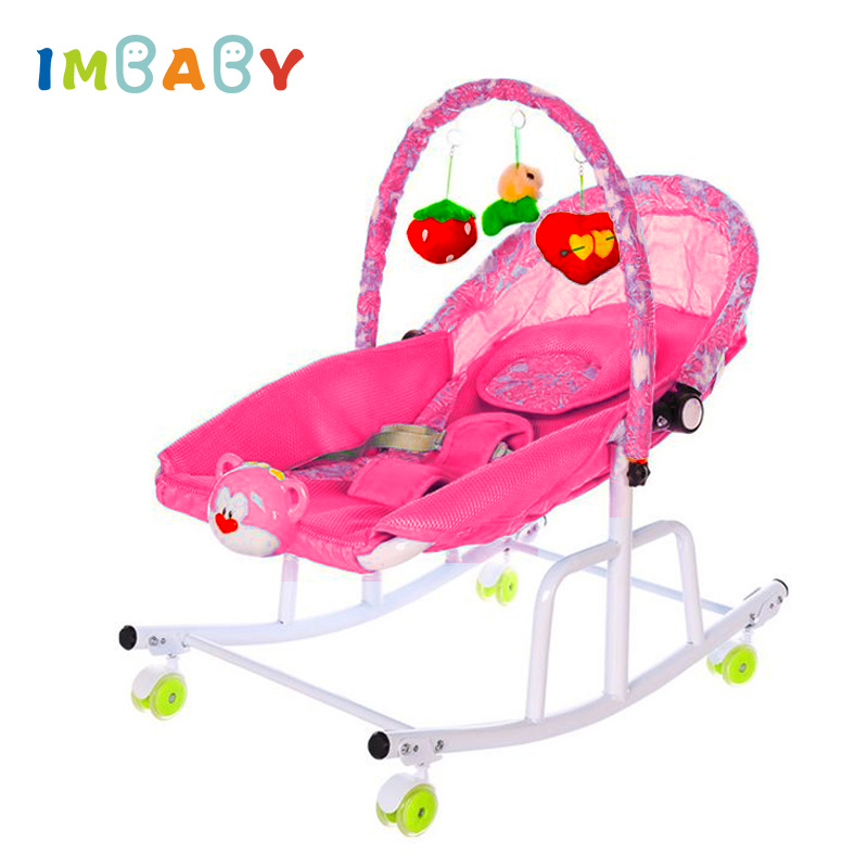 Baby Cradle Disassemble Metal With Light Music Player Cradle Swings For Baby Children Bassinet Rocking Chair