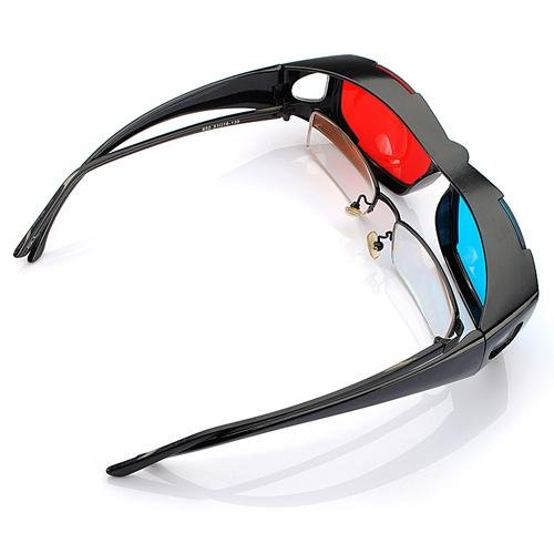 5pcs Red Blue Red-blue <font><b>glasses</b></font> Cyan 3D Myopia & <font><b>General</b></font> VISION Game <font><b>Stereo</b></font> Movies Dimensional Anaglyph Plastic <font><b>Glasses</b></font>