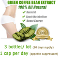 3 PAQUETES, 3 meses de suministro, envío gratis verde coffee bean extract, adelgazamiento de pérdida de peso de café verde con 1 bolsas remiendo delgado