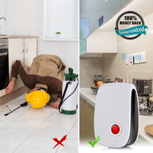 6Pcs EU UK US Plug Electronic Ultrasonic Pest Repellent Hot Selling Insect Pest Mouse Rat Bug White  Color Rejection killer Rode