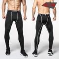 Бесплатная доставка 2016 Мужчины сжатия брюки колготки брюки бодибилдинг мужчин бегунов army green леггинсы Высокое качество S-3XL