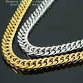 Customizes Stainless Steel Gold Silver Tone men Chain, Male Necklace, Fashion Christmas Gift Jewelry 6mm 18inch-40inch