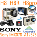 H8 H8R H8pro H8plus H8se Ultra HD 4 K Câmera de Ação WI-FI Remoto vr360 controle ek en vr ir pro esporte hero 4 à prova d' água esporte cam