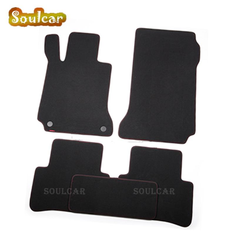 Premium Fabric Nylon Suede Washable Car floor mats for Mercedes Benz C180/200/300 C200L C Coupe W205 W204 W203 2000-2017 carpet auto fuel filter 163 477 0201 163 477 0701 for mercedes benz