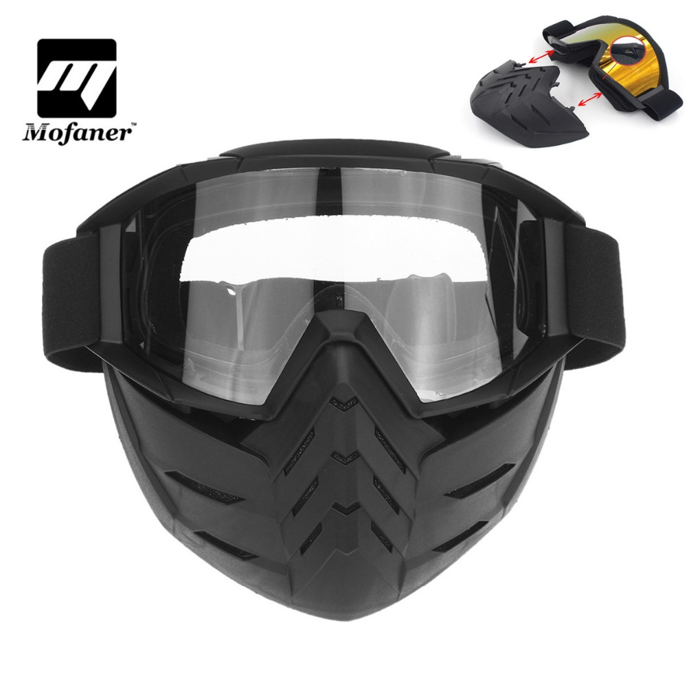 Buy now Mofaner Motorcycle Face Mask Goggles Riding Scooter Detachable Modular