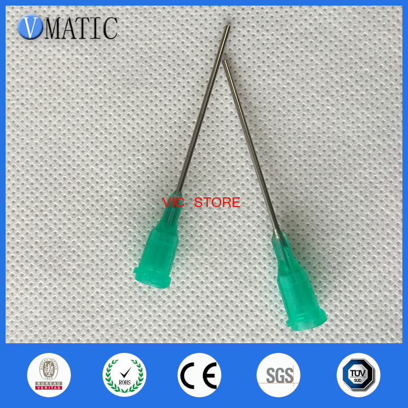 Free Shipping 100Pcs 18G Blunt Needles Dispensing Needle With 1 Inch Tubing Length
