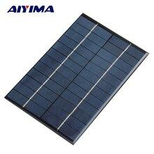 AIYIMA 4 2W 12V Solar Panel Polycrystalline 200 130mm Solar Cell Battery Module Polycrystalline DIY Solar