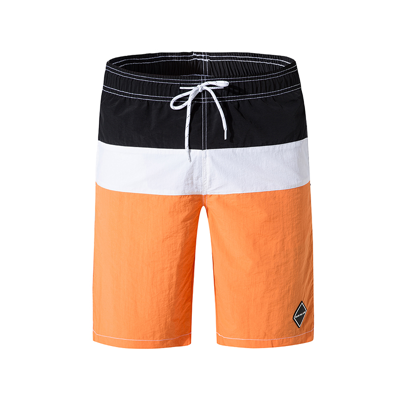 Men's Beach   Board     Shorts   Summer Solid Patchwork Loose Beach Wear Elastic Waist Bathing Suit Quick Dry Casual Sports   Short   Pants