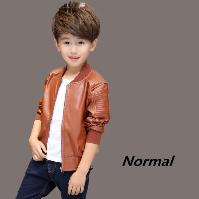 Anak Anak Laki-laki Mantel Musim Dingin Baru 2016 Musim Dingin Tebal  Beludru Anak-anak PU Kulit Jaket Modis Polos Anak-anak Pakaian Hangat  Outwears e9fbfc7197