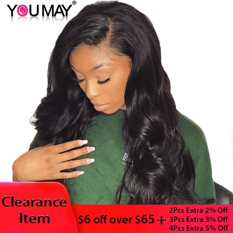 13x6 μπροστινή περούκα δαντέλα βραζιλιάνα σώμα κύμα 150 Denstiy τελειώνει Lace μπροστινή ανθρώπινη μαλλιά περούκες για τις γυναίκες μαύρο χρώμα μπορείτε να Remy μαλλιά