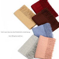 Inner Mongolia Manufactor Directly For Ma'am Solid Wool Scarf Lamb Plain Velvet Color Male Person Shawl Autumn And Winter Cloak