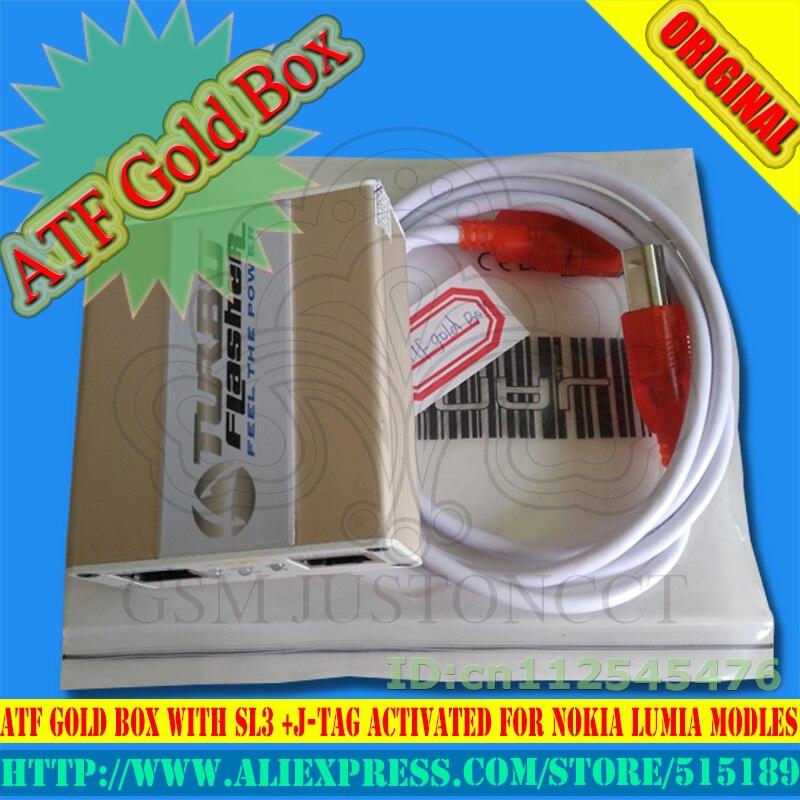 2018 date 100% Original avance Tubro boîte atf boîte atf boîte en or atf édition limitée boîte avec activation SL1 SL2 SL3 JTAG EMMC