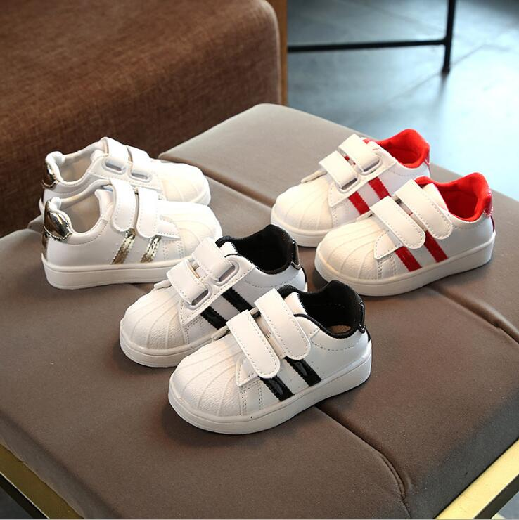 Spring Autumn Children Girls Boys Casual Shoes Girl Boy White Board Shoes 3colors 1-6years 21-30 028  TX09