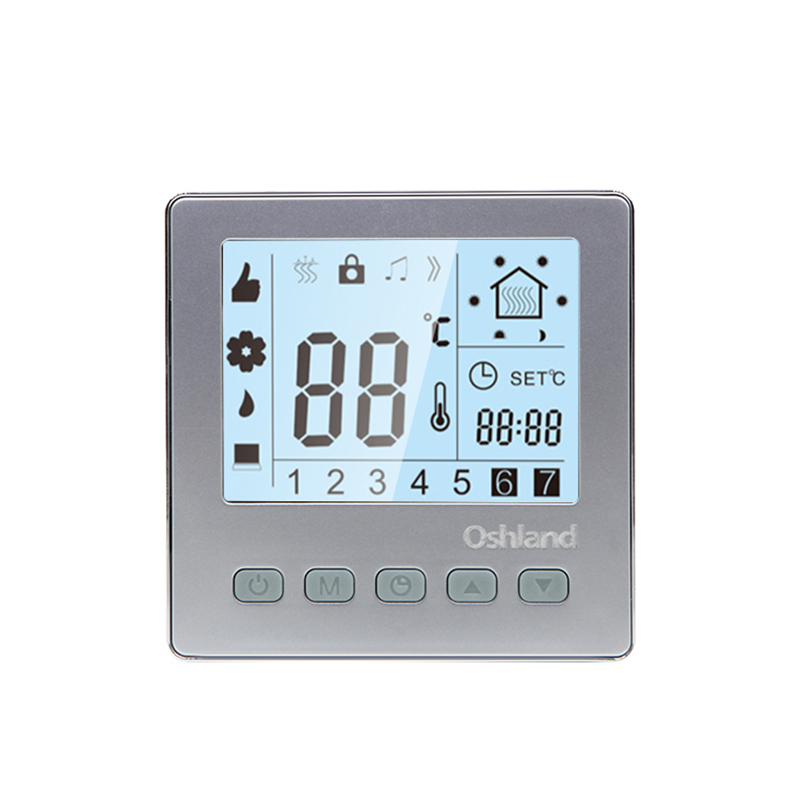 Free Shipping Silver Color 16A Digital Floor Heating Thermostat Programmable LCD Temperature Controller