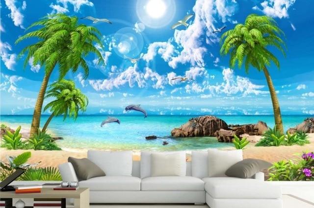 Hd bella carta da parati di cocco di mare spiaggia for Carta da parati 3d mare