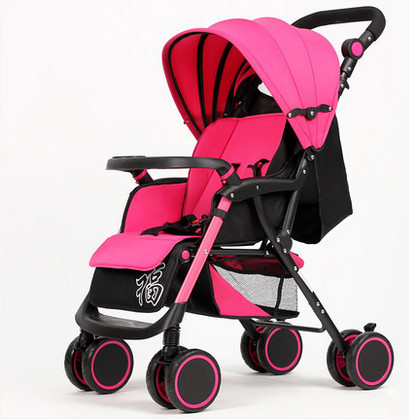 Light portable folding stroller can sit lie four push baby strollers umbrella car stroller