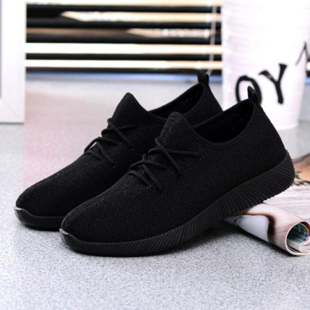 2018 New Summer Walking Shoes Woman Breathable Flat Mesh Shoes Fashion Comfortable Women Casual lace up Shoes high quality breathable women hemp summer flat shoes eu 35 40 new arrival fashion outdoor style light