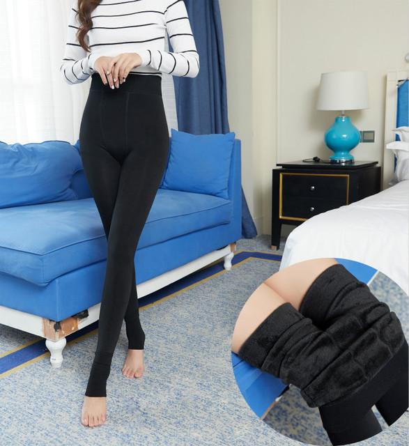 Mollad 2016 NEW plus cashmere leggings women girls Casual Warm Winter Bright Velvet Knitted Thick Legging Super Elastic Pants
