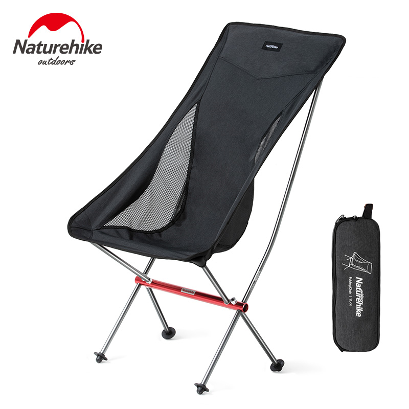 Naturehike Outdoor Heavy Duty Compact Aluminum Folding Picnic Chair Lightweight Fishing Beach Chair Foldable Camping Chair