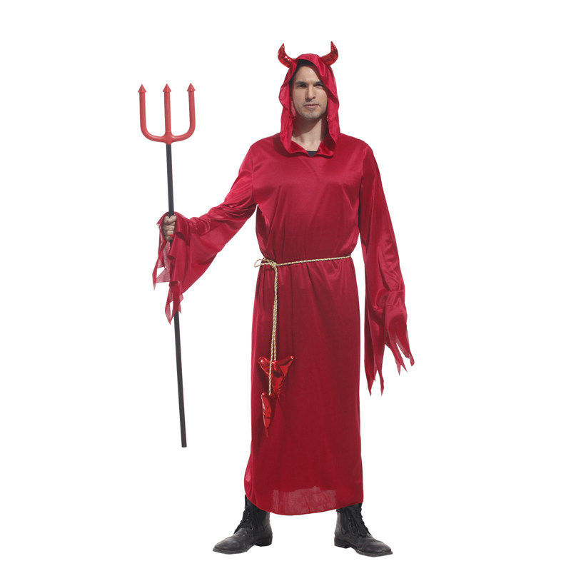 Halloween Costumes Adult Men Hooded Evil Red Demon Devil Costume Uniform Robe Fancy Cosplay Clothing for Men-in Movie u0026 TV costumes from Novelty u0026 Special ...  sc 1 st  AliExpress.com & Halloween Costumes Adult Men Hooded Evil Red Demon Devil Costume ...