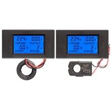 Voltmètre numérique AC 80-260V DC 6.5-100V 20A 100A LCD, ampèremètre, indicateur de puissance, Watt, tension d'énergie, testeur de courant