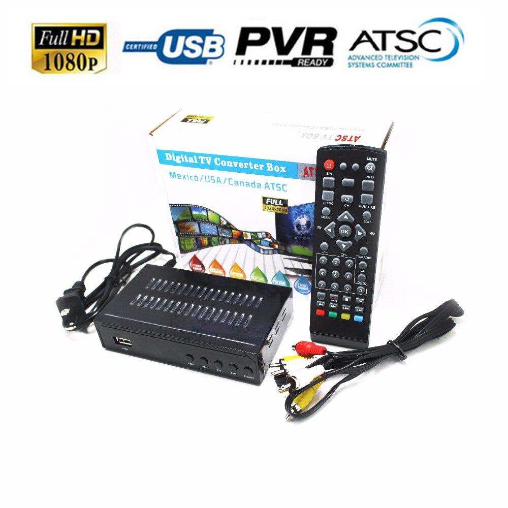 ATSC Satellite Receiver HD Digital LNB TV Tuner Receivable MPEG4 TV Receiver Suit for Korea Mexico USA Canada Support bisskey lnb 001 satellite tv receiver tuner white beige