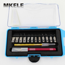 makerelectric Carving Gravers Wood Steel Multi-purpose 12 Blades Sculptural Chisel Hobby With Case