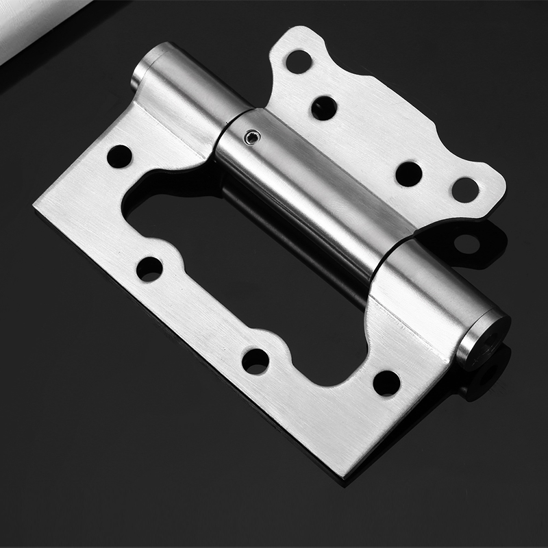 Hydraulic Cushioning Stainless Steel Stealth Door Hinge Closer Automatic Closing Blind Hinge 2PCS free door spring hinge bidirectional open stainless steel automatic door closing device cowboy bar wicket hinges 2pcs