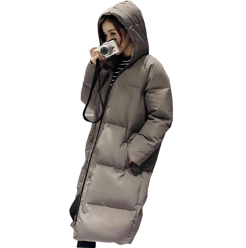 ФОТО 2016 women's winter jacket high quality casual women parkas female hooded thick warm cotton coat long loose plus size kp0862
