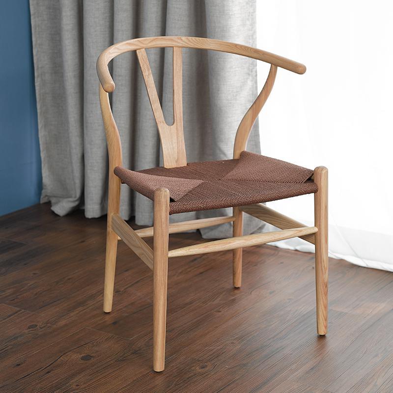 Скандинавский современный из натурального дерева простой обеденной стул из ясеня для отдыха дома спинка деревянного кресла Кеннеди китайский стиль Y стул - Цвет: style 10