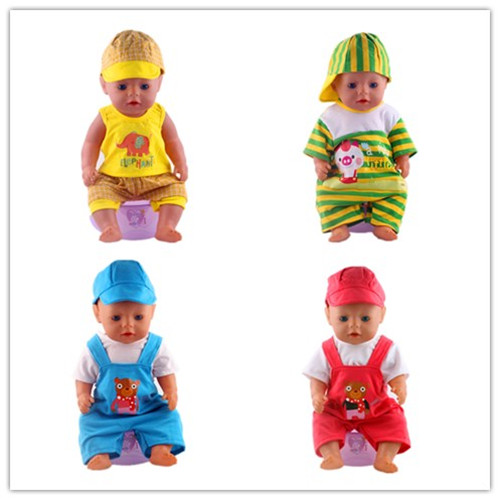 Luckdooll 14 models suit various print designs fit 43-inch baby born zapf dolls. Children's best holiday gift